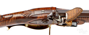 Contemporary carved Pennsylvania flintlock rifle