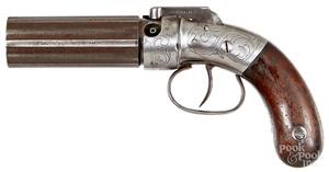 Sprague & Marston pepperbox pistol