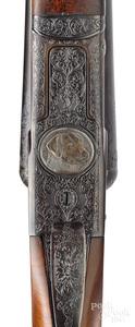 H. V. Grant engraved Winchester model 21 shotgun
