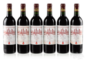 Six bottles of 1987 Chateau Cos D'Estournel