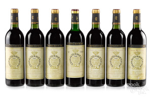 Seven bottles of Chateau Gruaud Larose