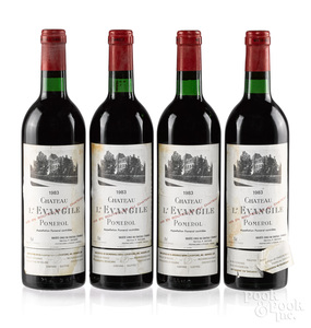 Four bottles of 1983 Chateau L'Evangile