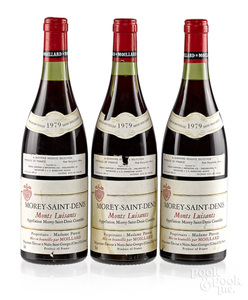 Three bottles of 1979 Morey Saint Denis