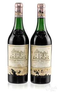 Two bottles of 1970 Chateau Haut Brion