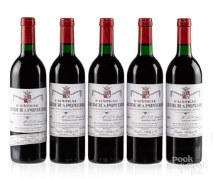 Five bottles of Chateau Latour A Pomeral