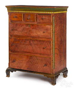 Pennsylvania painted pine chest of drawers