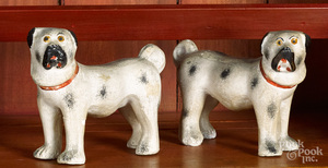 Pair of Pennsylvania chalkware dogs