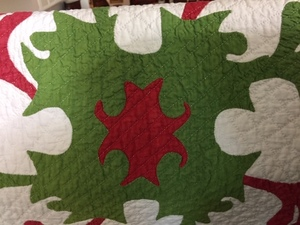 Pair of Princess Feather quilts