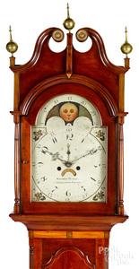 Pennsylvania Federal cherry tall case clock