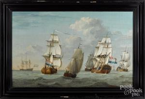Joghi de Vries (Dutch 18th c.) seascape