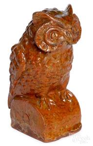 Pennsylvania redware owl