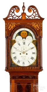Baltimore Federal mahogany tall case clock