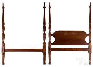 Federal mahogany tall post bed