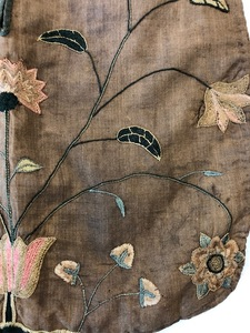 Chester County silk on linen needlework pocket
