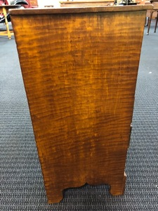 Child's tiger maple chest of drawers