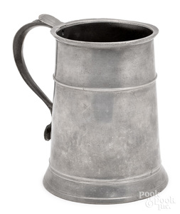 Charleston, Massachusetts pewter mug