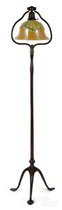 Tiffany Studios patinated bronze floor lamp