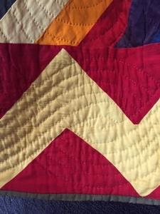Rainbow zig zag quilt