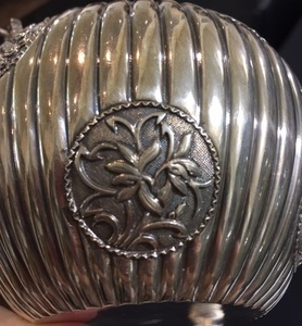 Chinese export three-piece silver tea service