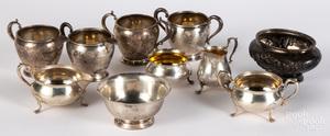 Sterling silver teawares