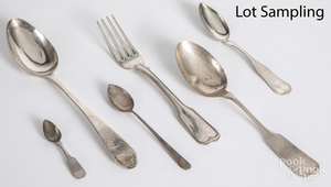 Coin silver flatware
