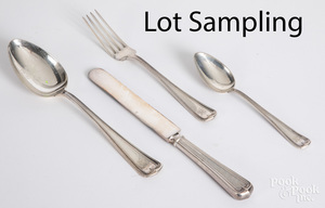 Dominick and Haff sterling silver flatware service