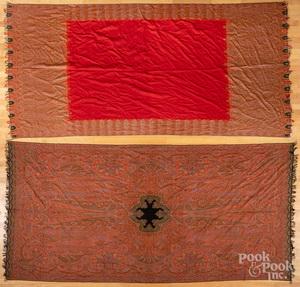 Two paisley shawls
