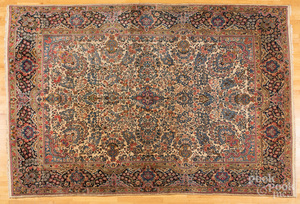 Semi-antique Kirman carpet
