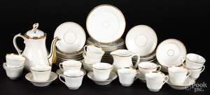 White ironstone tea and luncheon service