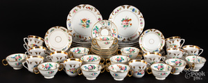 Group of floral decorated tablewares, etc.