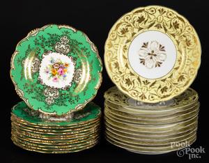 Set of twelve Mintons porcelain plates, etc.