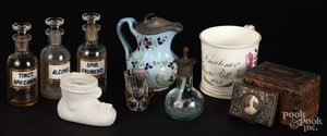 Miscellaneous glass, porcelain and accessories