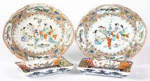 Chinese export porcelain serving dishes, etc.