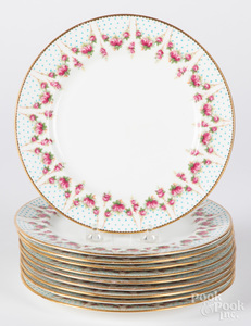 Set of twelve Spode porcelain plates, etc.