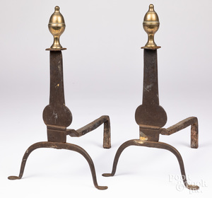 Pair of Federal andirons