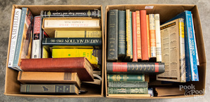 Collection of antique reference books