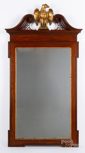 Federal style mahogany mirror