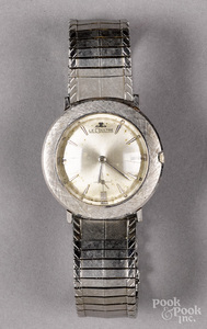 14K white gold cased Le Coultre wristwatch