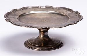 Tiffany & Co. sterling silver pedestal plate