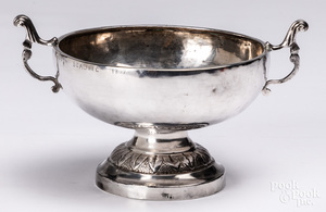 Sterling silver footed bowl