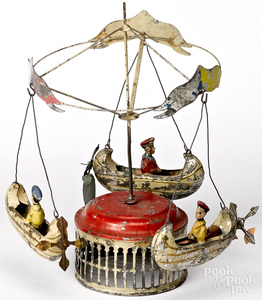 Muller and Kadeder carousel steam toy accessory