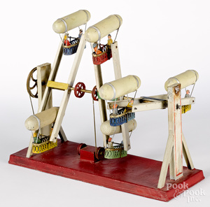 Dirigible carnival ride steam toy accessory