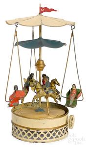 Carette horse carousel steam toy accessory