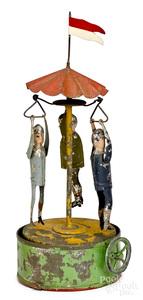 Becker human carousel steam toy accessory