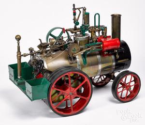 Massive live steam traction engine model