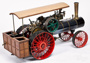 Massive live steam traction engine model