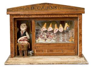 German painted composition butcher shop