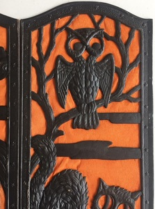 German folding die cut Halloween fire screen