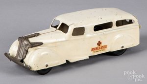 Wyandotte pressed steel ambulance