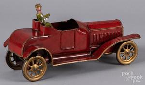 Dayton painted tin touring car